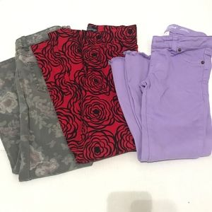 Childrens place skinny jeans  Leg Pants 8 lot of 3